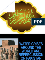 Water Crises Around the World and Repercussion on Pakistan