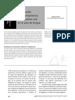 Tusón, A. (2011) El Desarrollo de La Competencia Comunicativa Oral en El Aula de Lengua