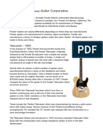The History of Fender Guitars.