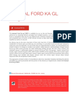 Manual Ford Ka Gl 2003