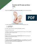 Biodescodificación Del Pie Que Produce Fascitis Plantar