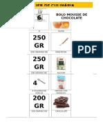 Receita Para o Caderno de Bolo Mousse de Chocolate