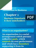 Chpt 1 Org & Stakeholders