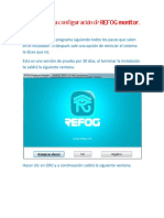 Manual Para La Configuracion de REFOG Monitor