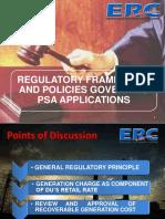 Regulatory Framework in PSA - Energy Regulatory Commission