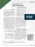 Consideraciones Auditoria Inventarios