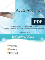 Acute Abdomen and Peptic Ulcer