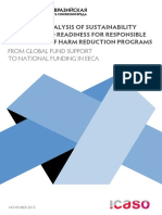 SITUATION ANALYSIS OF SUSTAINABILITY PLANNING AND READINESS FOR RESPONSIBLE TRANSITION OF HARM REDUCTION PROGRAMS FROM GLOBAL FUND SUPPORT TO NATIONAL FUNDING IN EECA NOVEMBER