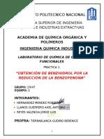 Practica 1- Obtención de Benzhidrol Por La Reduccion de La Benzofenona