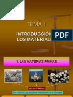 Introduccion de Los Materiales