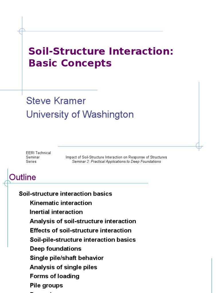 Soil Structure Interaction | Deep Foundation | Classical Mechanics