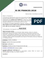 Comunicado Frances 2016