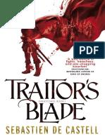 Traitor's Blade by Sebastien de Castel