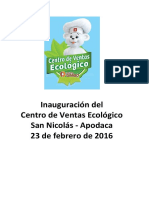 Inauguración del Centro de Ventas Ecológico San Nicolás-Apodaca