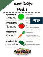 Secret Recipe Weeks