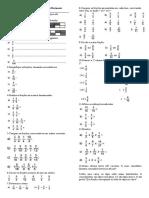 Atividade I - Números Racionais Frações