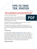40 Tips To Take Better Photographs