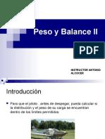 Peso y Balance II.