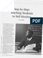 step by step teachig students to self monitor
