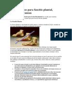 Tratamientos Para Fascitis Plantal, Conoce Las Causas