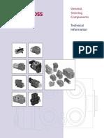 Información Tecnica General,Steering Componentes