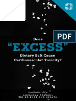 Does 'Excess' Dietary Salt Cause Cardiovascular Toxicity?