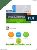 Procesos de Manufactura - Tipos de materiales, estructura, propiedades y aplicaciones