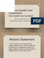 robinson health care corporation- overview