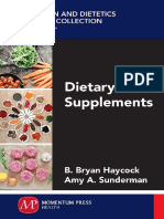 Dietary Supplements, B. Brian Haycock