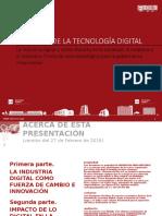 Impacto de lo Digital en la Sociedad, la Empresa y el Individuo