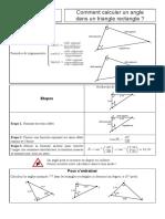 Comment Calculer Un Angle Dans Un Triangle Rectangle