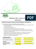 director of public relations and records application  2016-2017