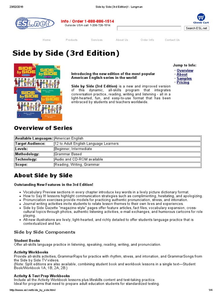 Side By Side 3rd Edition Longman Books English
