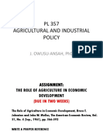 Agric and Industrial Policy