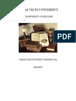 GraduateStudentHandbook2006