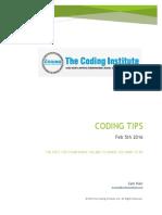 Coding Tips Feb 5th 2016