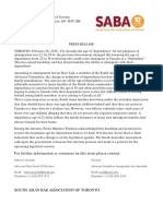 SABA - Dependent Child Press Release Feb 25 2016