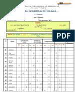 Ficha de Informação Intercalar 5ºD