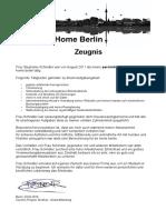 Zeugnis Be Home Berlin