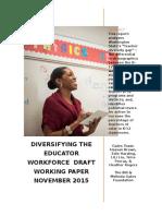 Gates Foundation Teacher Diversity Paper