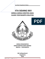Akta Sidang XXV KYS