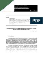 Inconstitucionalidad de La Ley 26.944 - Para Web