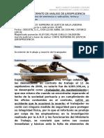 Analisis Jurisprudencia Accidente de Trabajo