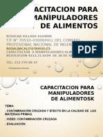 Capacitacion Contaminacion Cruzada Agenquimicos