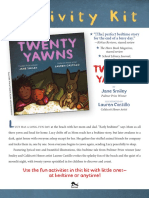 Twenty Yawns Activity Kit