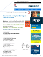 Equivalents of English