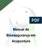 ACUMPUNTURA Manual de Biosseguranca