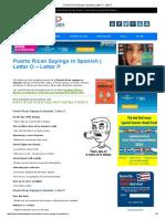 Puerto Rican Sayings in