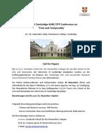 Cambridge Conference Call 2016