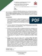 Presentan segunda tacha contra Julio Guzmán